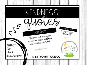 Monthly Kindness Quotes