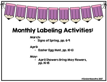 Monthly Labeling--Spring