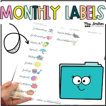 Monthly Labels for File Folders
