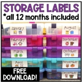 Monthly Labels for Storage