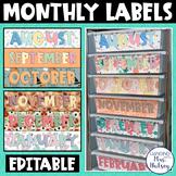 Monthly Supply Labels (Sterilite 3-drawer bins)
