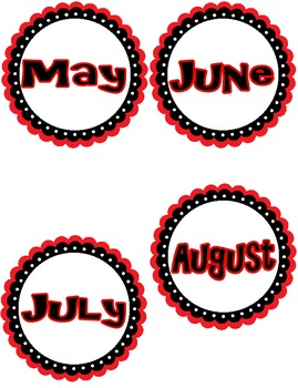 Monthly Labels with Mystery Themed Bulletin Board Title