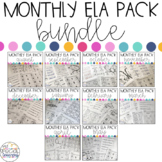 Monthly Language Arts Printables for Special Education BUNDLE