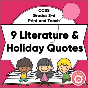 Monthly Inspirational Quotes: Connected To Literature And Holidays