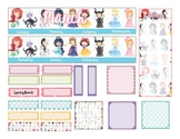 Monthly Layouts for Erin Condren Teacher Planner (Fairy ta