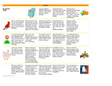 Monthly Learning Activity Calendar - October