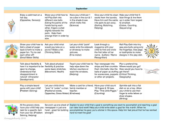Monthly Learning Activity Calendar - September