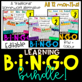 Monthly Learning BINGOs: 12 Month BUNDLE!