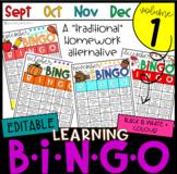 Monthly Learning BINGOs: VOLUME 1 (Sept, Oct, Nov, Dec)