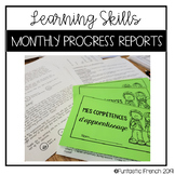 Monthly Learning Skills Progress Report Booklet
