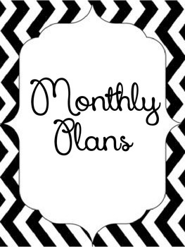 Monthly Lesson Organizer