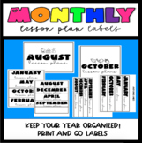 Monthly Lesson Plan Labels