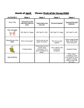 Monthly Lesson Plan Template for Infants - Includes A Free Lesson!