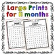 Monthly Letter Naming Fluency Practice