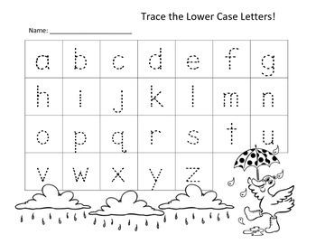 Monthly Letter Trace