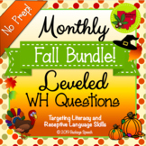 Monthly Leveled WH Questions - Fall Bundle!