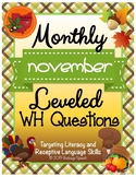 Monthly Leveled WH Questions - November