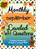 Monthly Leveled WH Questions - September