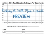 Monthly Lexile Tracker for Achieve 3000