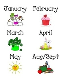 Monthly Library Labels