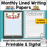 Monthly Lined Writing Paper for the Whole Year Print and Digital