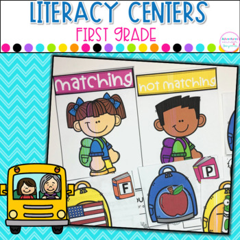Monthly Literacy Centers - Year Long Bundle