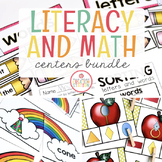 Monthly Literacy Centers and Math Centers {GROWING} MEGA-BUNDLE