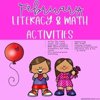 Monthly Literacy & Math Activities-GROWING BUNDLE!!