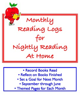 Monthly Logs for Nightly Reading at Home