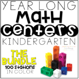 Year Long MATH Centers {THE BUNDLE} - Kindergarten