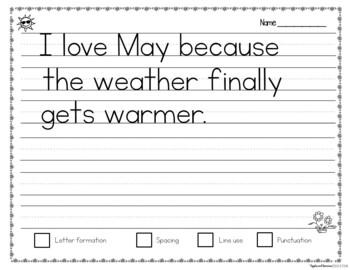 Monthly Handwriting Practice Copywork Bundle