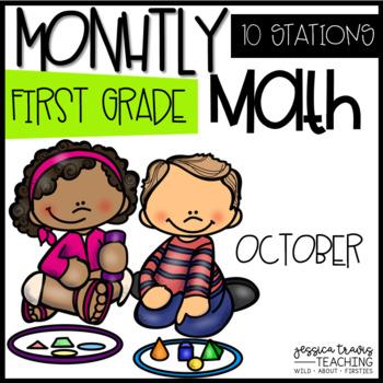 Monthly Math - 1st Grade - OCTOBER