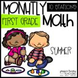 Monthly Math - 1st Grade - SUMMER