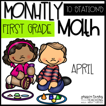 Monthly Math - April - FIRST GRADE
