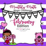 Monthly Math Bingo Challenge  **February Edition**