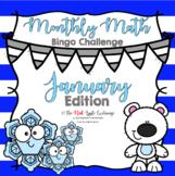 Monthly Math Bingo Challenge  **January Edition**