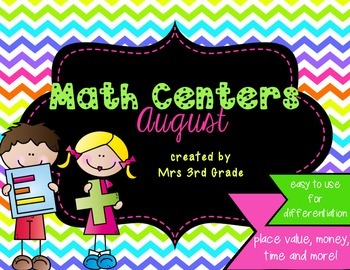 Monthly Math Centers - August