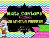 Monthly Math Centers - August FREEBIE