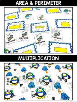 Monthly Math Centers (MEGA BUNDLE - 120 Centers) Grades 3-5