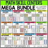 Monthly Math Centers (MEGA BUNDLE - 120 Centers) Grades 3-5
