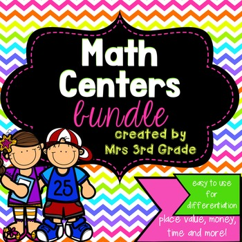 Monthly Math Centers - Growing Bundle