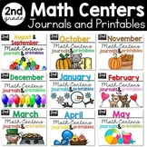 Monthly Math Centers, Journals, and Printables Bundle Seco
