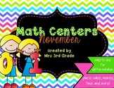 Monthly Math Centers - November