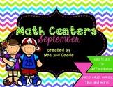 Monthly Math Centers - September