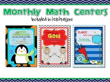 Monthly Math Centers Set 2 (Other Celebrations)