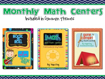 Monthly Math Centers Set 3 (Themes)
