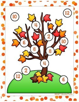 October Math Centers - First Grade 8 Games - Fall - Easy Prep