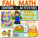 Fall Math Centers - First Grade 8 Games - Easy Prep Octobe