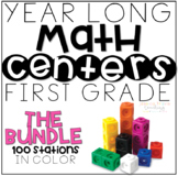 Year Long MATH Stations (THE BUNDLE) ~ First Grade