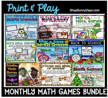 Monthly Math Games - The Bundle